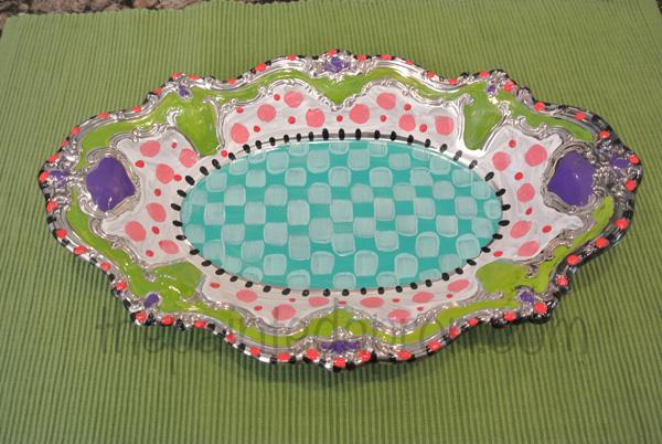 Alice in Wonderland tray thepaintedapron.com