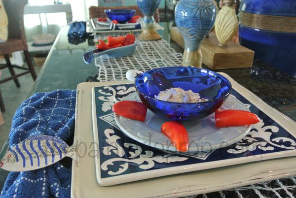 beach blue table & dip thepaintedapron.com