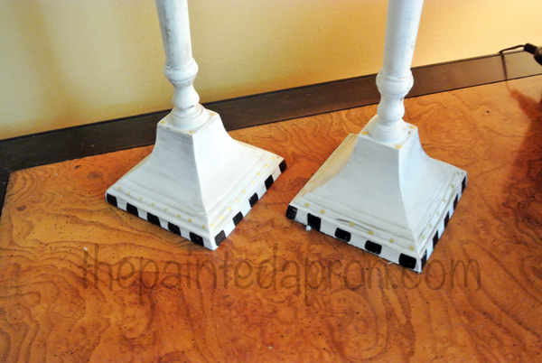 painted candlestick base thepaintedapron.com
