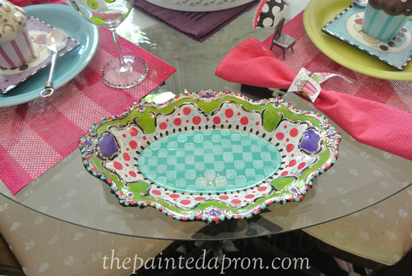 painted silver tray thepaintedapron.com