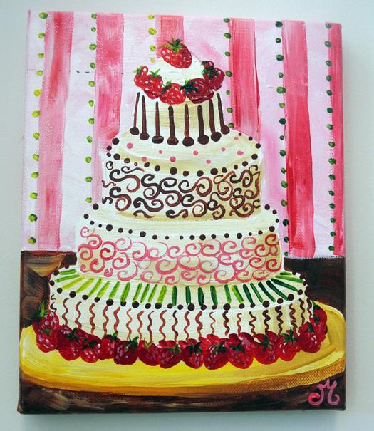 strawberry cake JMdesignsgallery.com