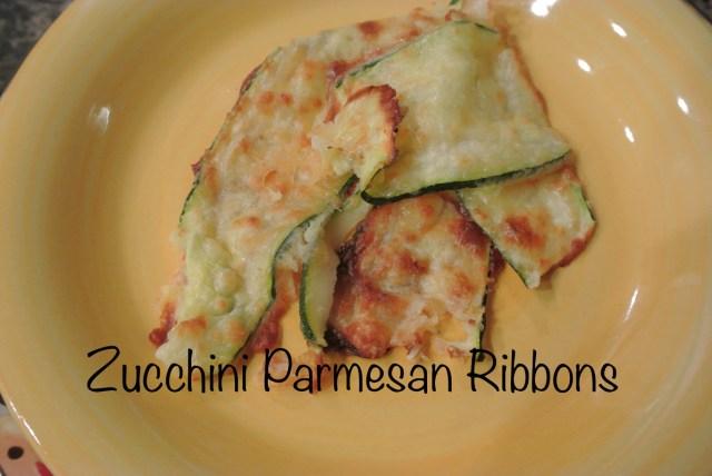 zucchini parmesan ribbons thepaintedapron.com