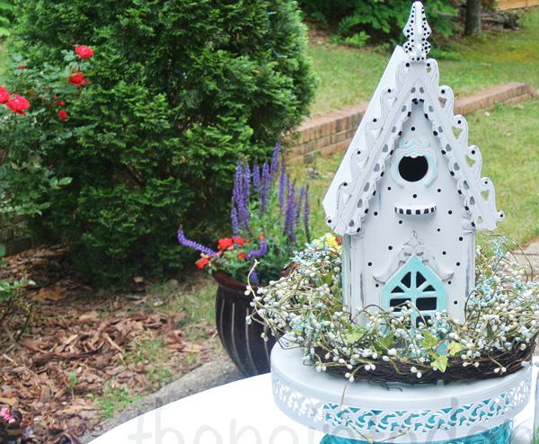 birdhouse in the garden thepaintedapron.com
