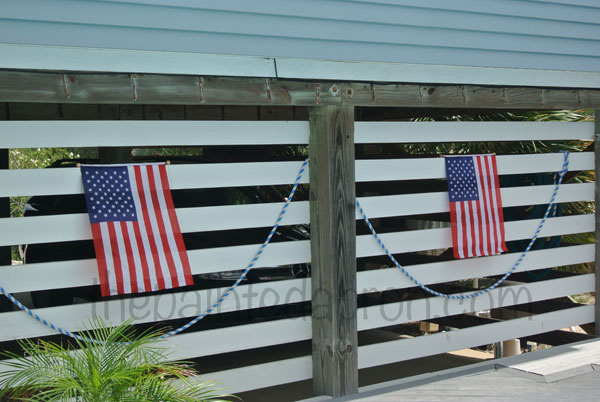 flag decor thepaintedapron.com