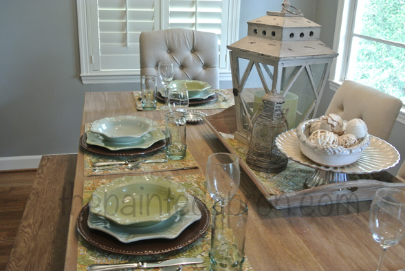 french country table thepaintedapron.com