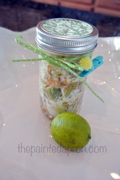 key lime parfait in a jar thepaintedapron.com