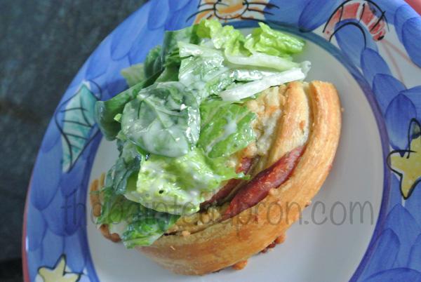 salad on pizza thepaintedapron.com