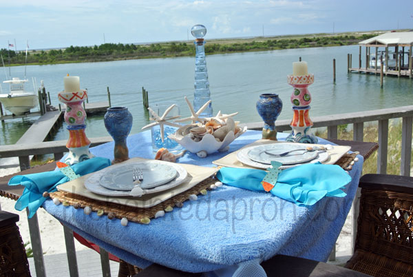 seashell table 2 thepaintedapron.com