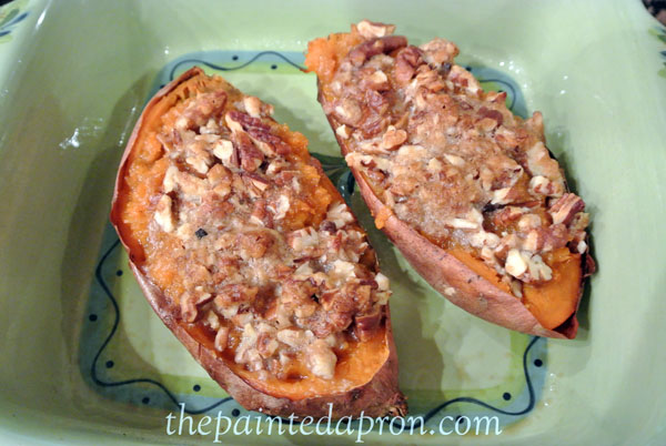 twice baked sweet potatoes thepaintedapron.com