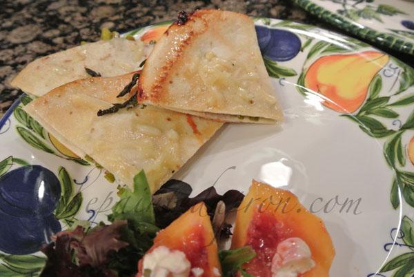 asparagus quesadilla thepaintedapron.com