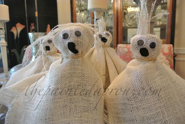 burlap ghost gang thepaintedapron.com