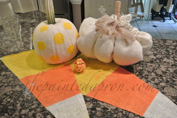 pumpkins and candy corn thepaintedapron.com
