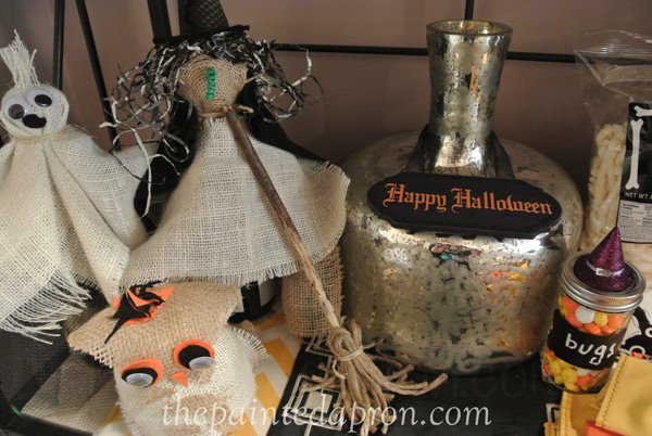 burlap witch and owl thepaintedapron.com