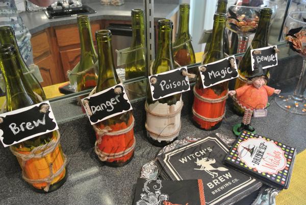 Halloween bottles thepaintedapron.com