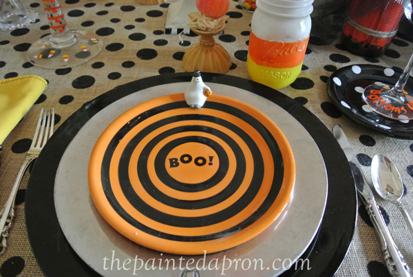 Halloween place setting 4 thepaintedapron.com