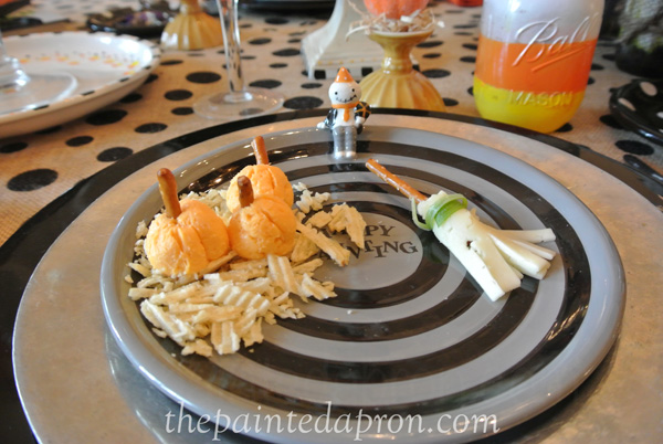 cheese pumpkins & brooms