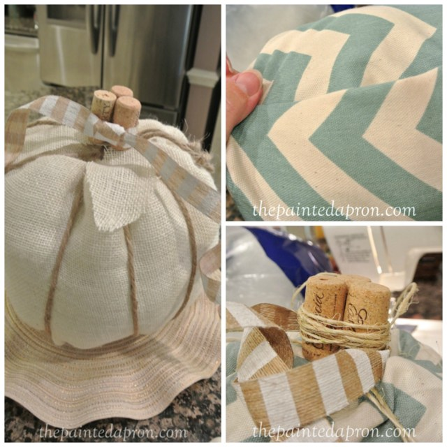 sew and fold pumpkin collage