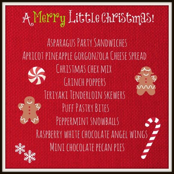 a merry little Christmas menu thepaintedapron.com