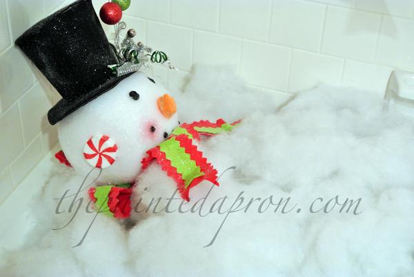 Frosty's bath thepaintedapron.com