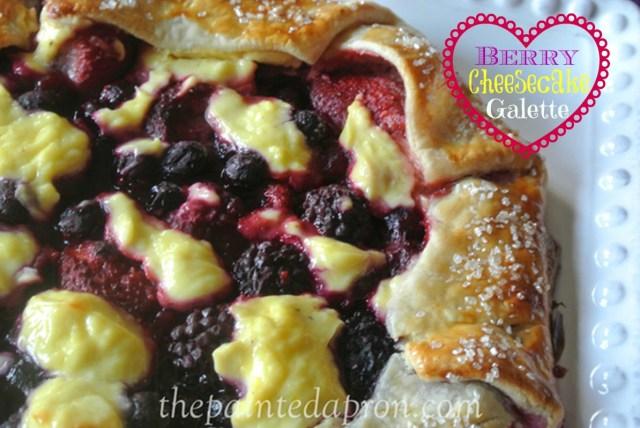 berry cheesecake galette 1 thepaintedapron.com