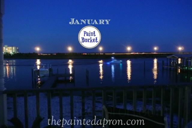 January Paint Bucket