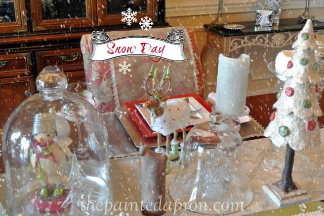Snow Day table, thepaintedapron.com