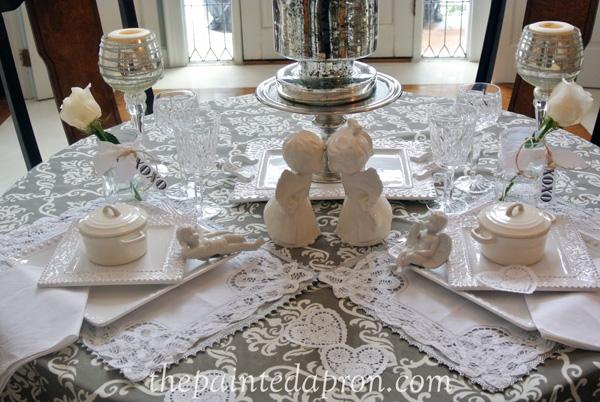 white romance table thepaintedapron.com