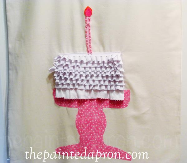 birthday cake banner thepaintedapron.com