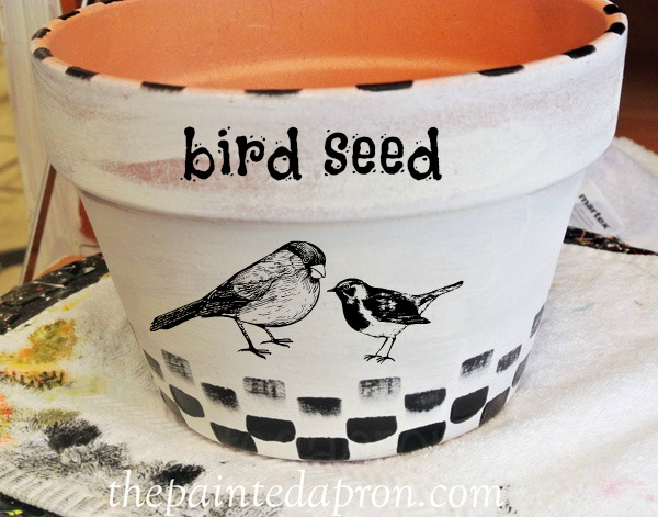 painted bird pot thepaintedapron.com