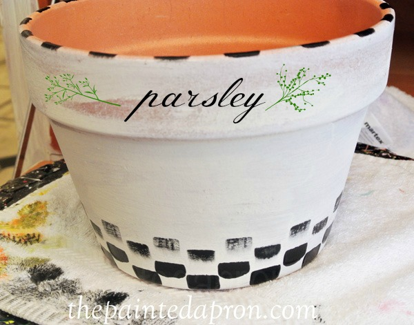 painted parsley pot thepaintedapron.com