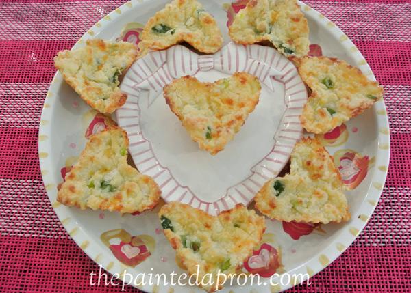 Valentine cheese muffins