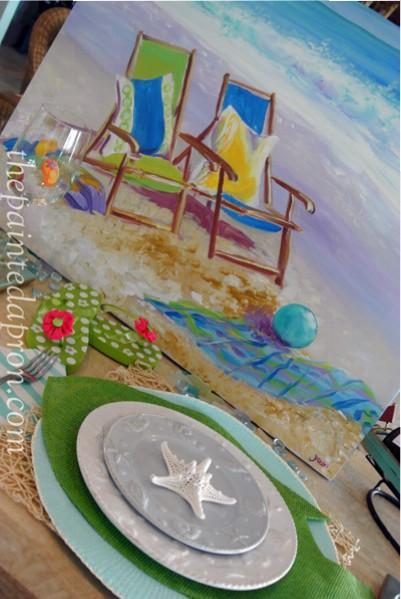 beach chair table thepaintedapron.com