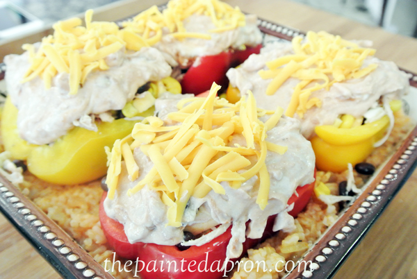 cheese topped frosted peppers thepainteapron.com