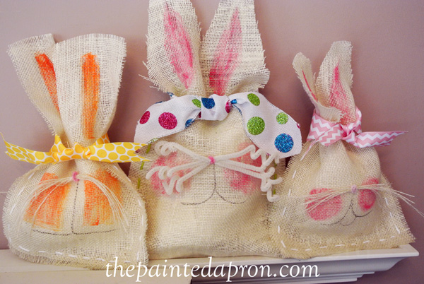 Easter bunny bags thepaintedapron.com