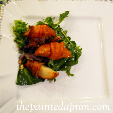 bacon wrapped pear salad 2 thepaintedapron.com