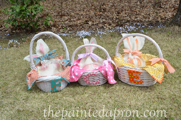 Easter baskets thepaintedapron.com