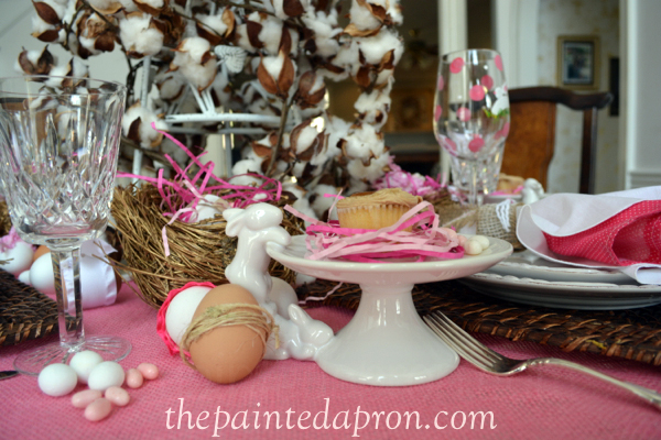 Easter table thepaintedapron.com 1