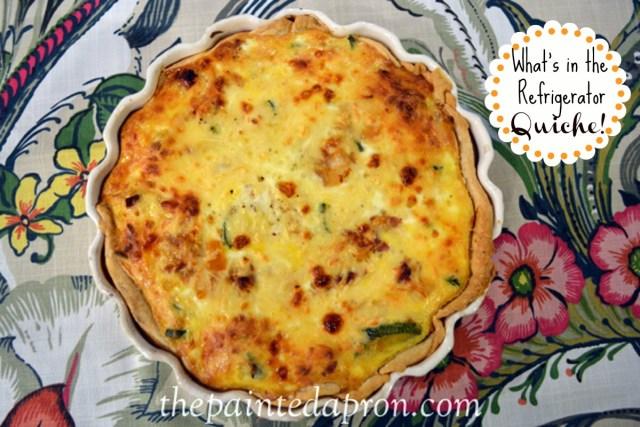 ham quiche with veggies thepaintedapron.com
