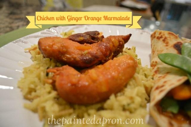 chicken with ginger orange marmalade thepaintedapron.com