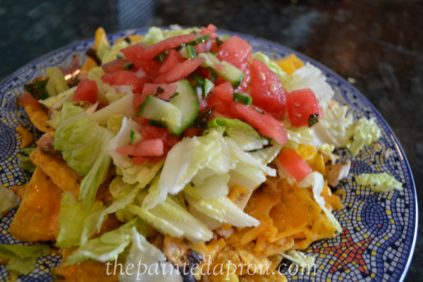 nachos with watermelon salsa thepaintedapron.com