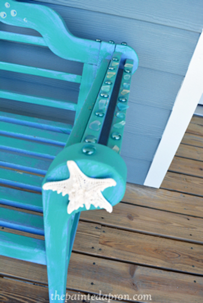 sea shell bench thepaintedapron.com