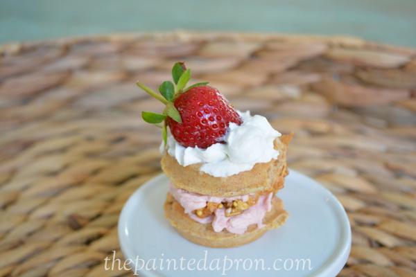 strawberry waffle parfait bite thepaintedapron.com