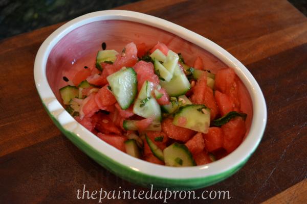 watermelon salsa 1 thepaintedapron.com