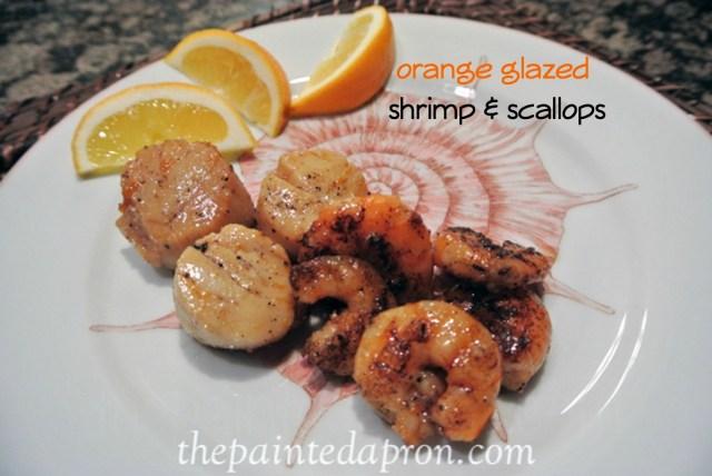 orange scallops and shrimp thepaintedapron.com