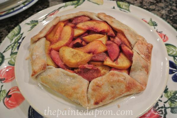 peach crostada