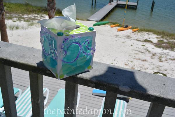 beachy tissue box thepaintedapron.com
