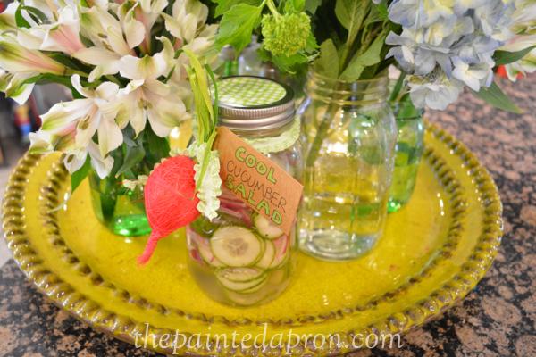 cucumber salad thepaintedapron.com