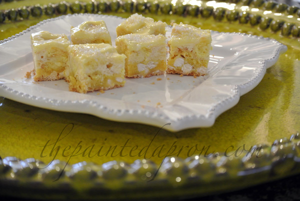 lemon cheesecake squares 4 thepaintedapron.com