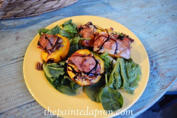 peach salad with balsamic thepaintedapron.com
