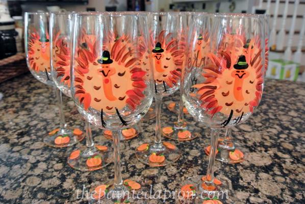 turkey glasses JMdesigns.com